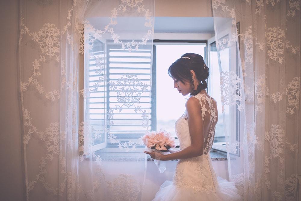 La sposa. Fotografo di matrimonio a Viterbo e Casina di Poggio della Rota, Tuscia. Sposi Andrea e Marzia. Noemi Federici, Fotografo Professionista di matrimonio a Viterbo, Tuscia, Poggio della Rota