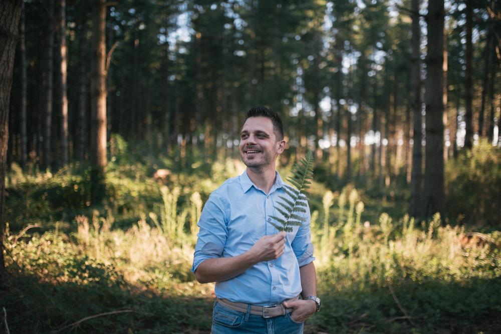 Servizio fotografico promessa di matrimonio per Marzia e Andrea, nel Bosco dei Monti Cimini, Viterbo. Noemi Federici, Fotografo Professionista di coppia a Viterbo.