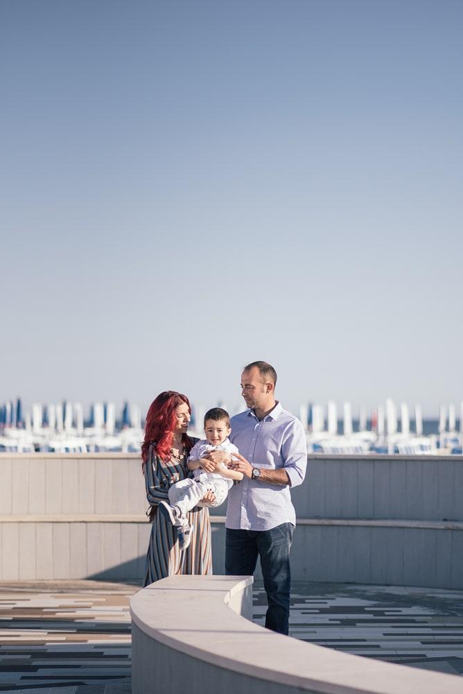 Servizio fotografico prematrimoniale al mare di Montalto Marina, Viterbo. Ecco FFrancesco, Stefania ed il piccolo Manuel.