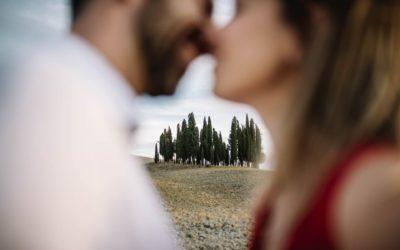 Servizio fotografico di coppia colline senesi Toscana
