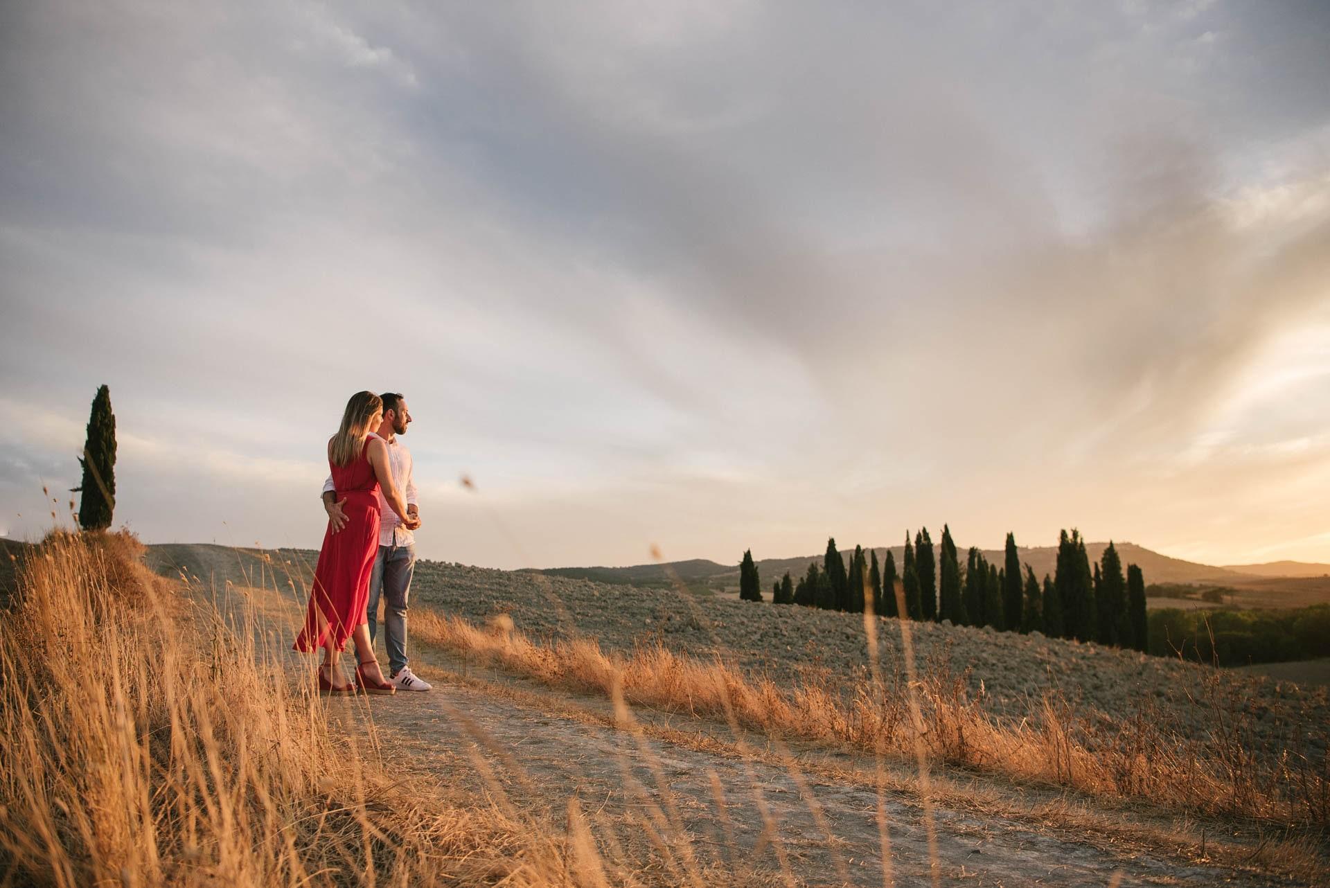 Servizio Fotografico Di Coppia Colline Senesi Toscana - Noemi Federici